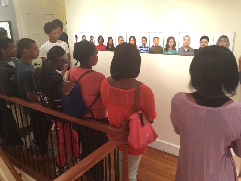 9th Graders at Arnika Dawkins Art Gallery